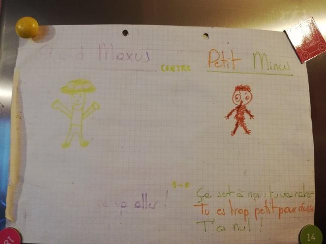 Grand Maxus et Petit Minus, dessin hp